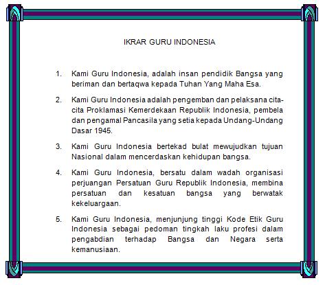 Ikrar Guru Indonesia dan Sumpah Guru Indonesia