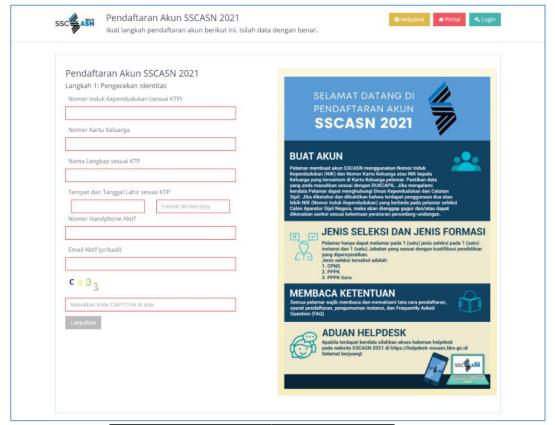 Cara Membuat Akun Pendaftaran Seleksi PPPK Guru Tahun 2021 di Portal sscasn