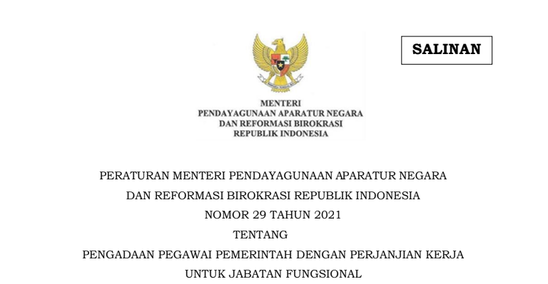 Peraturan Tentang Pengadaan PPPK 2021 Sudah terbit, Ini ketentuan dan persyaratan Pelamar