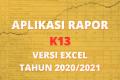 Aplikasi Raport k13 kelas 1-6 Semester 2 Tahun 2021