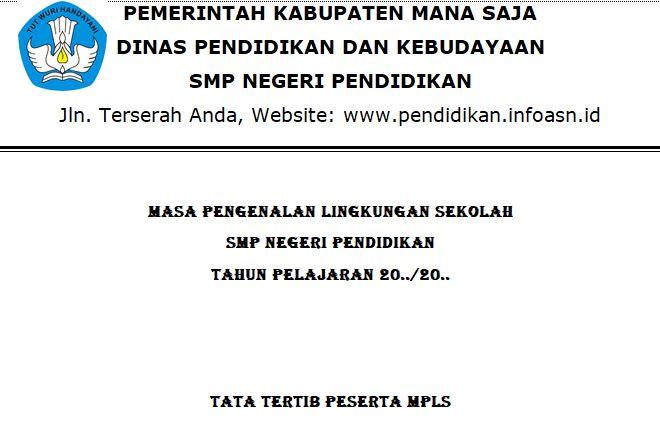 3 Contoh Tata Tertib MPLS Tahun 2021/2022