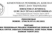 Jadwal Lengkap Seleksi PPPK Guru Tahun 2021
