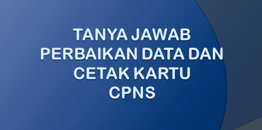 Tanya Jawab Perbaikan Data Dan Cetak Kartu CPNS 2021