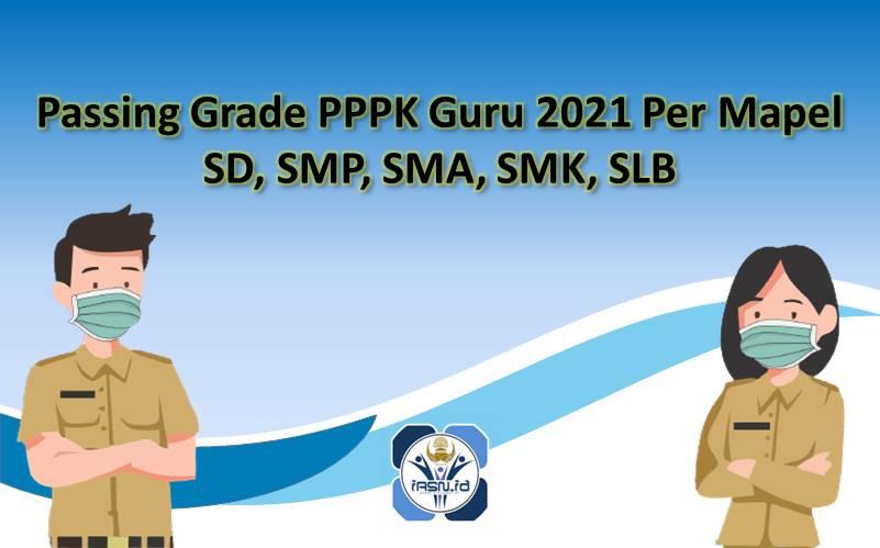 Passing Grade PPPK Guru 2021 Per Mapel SD, SMP, SMA, SMK, SLB